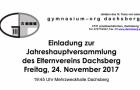 Einladung zur Jahreshauptversammlung des Elternvereins Dachsberg